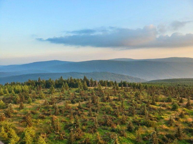 Góry Izerskie - Panorama zpunktu widokowego I