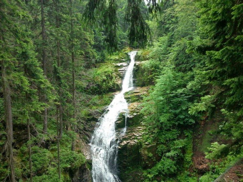 Góry Izerskie - wodospad Kamieńczyk