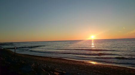 zachód słońca wDźwirzynie