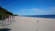 Na plaży w Pogorzelicy