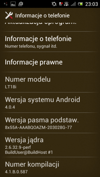 Informacje osystemie Android