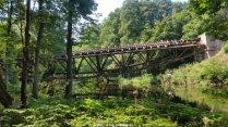 Most nad Gwdą z bliska