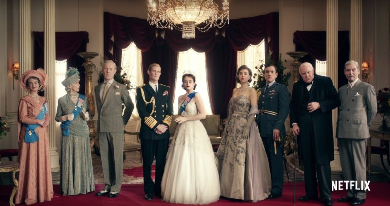 Serialowy NEtflix the crown