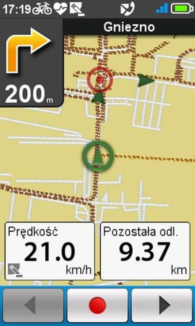 Mio Cyclo 500HC - nawigacja