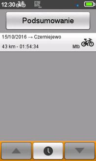Mio Cyclo 500HC - podsumowanie treningu
