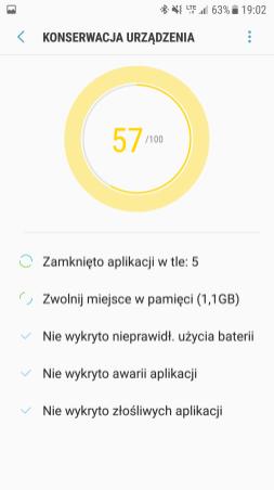 Samsung Galaxy S7 - konserwacja urzadzen wakcji