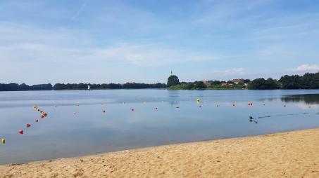 Rowerem do Kołobrzegu - Jezioro Zamkowe we Wałczu