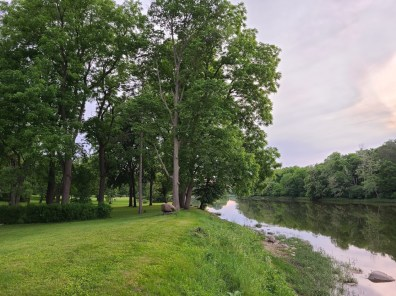The view along the river in our back yard