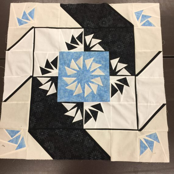 Paddlewheel – blue and black
