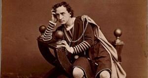 Actor Edwin Booth as Hamlet, c. 1870 (Library of Congress photo)