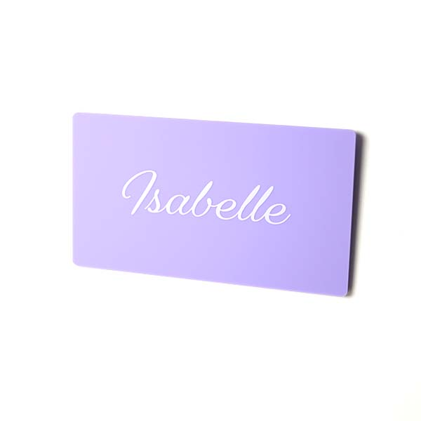 Script Font Name Plate Printed Small Sign