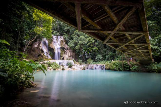 Kuang-Si-Waterfall-Bridge