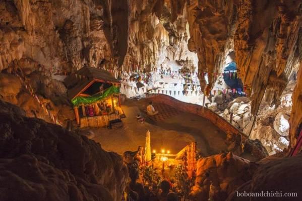 Meditating-in-cave