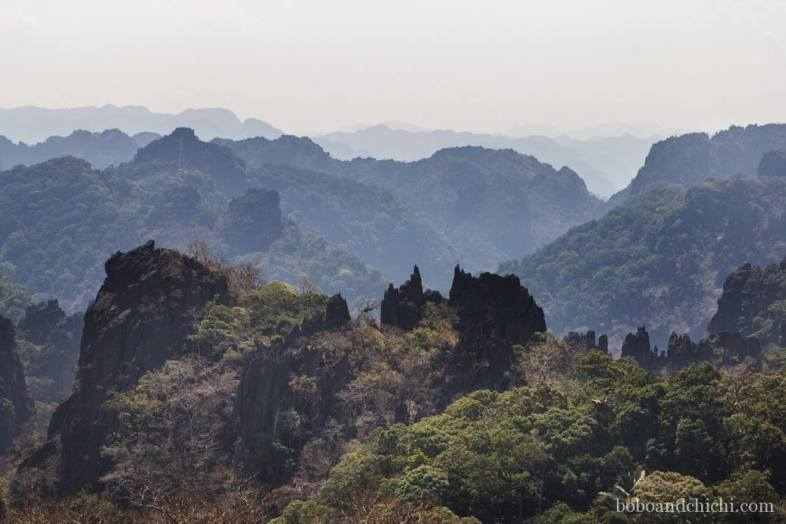 Mountain Range to Kong Lo Cave in Laos