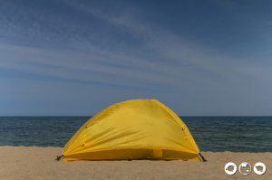 Camping at Naksan Beach - best things to do in korea