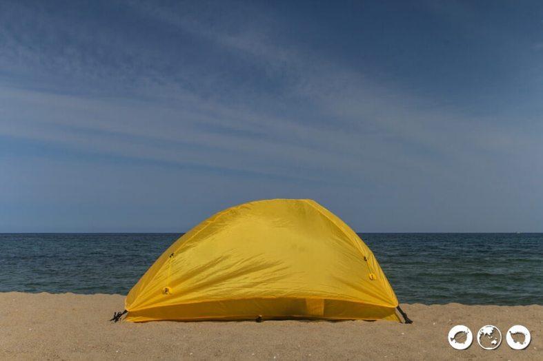 Camping at Naksan Beach