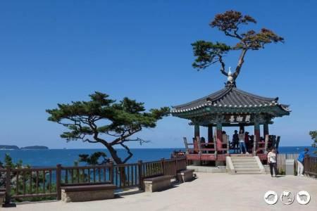 Pagoda at Naksana Temple Overlooking Ocean