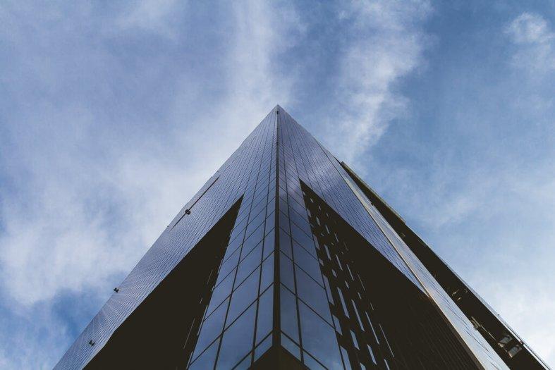 Umeda Sky Building looking up