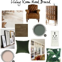 ONE ROOM CHALLENGE | WEEK ONE: THE LIVING ROOM BEFORES AND MOOD BOARD