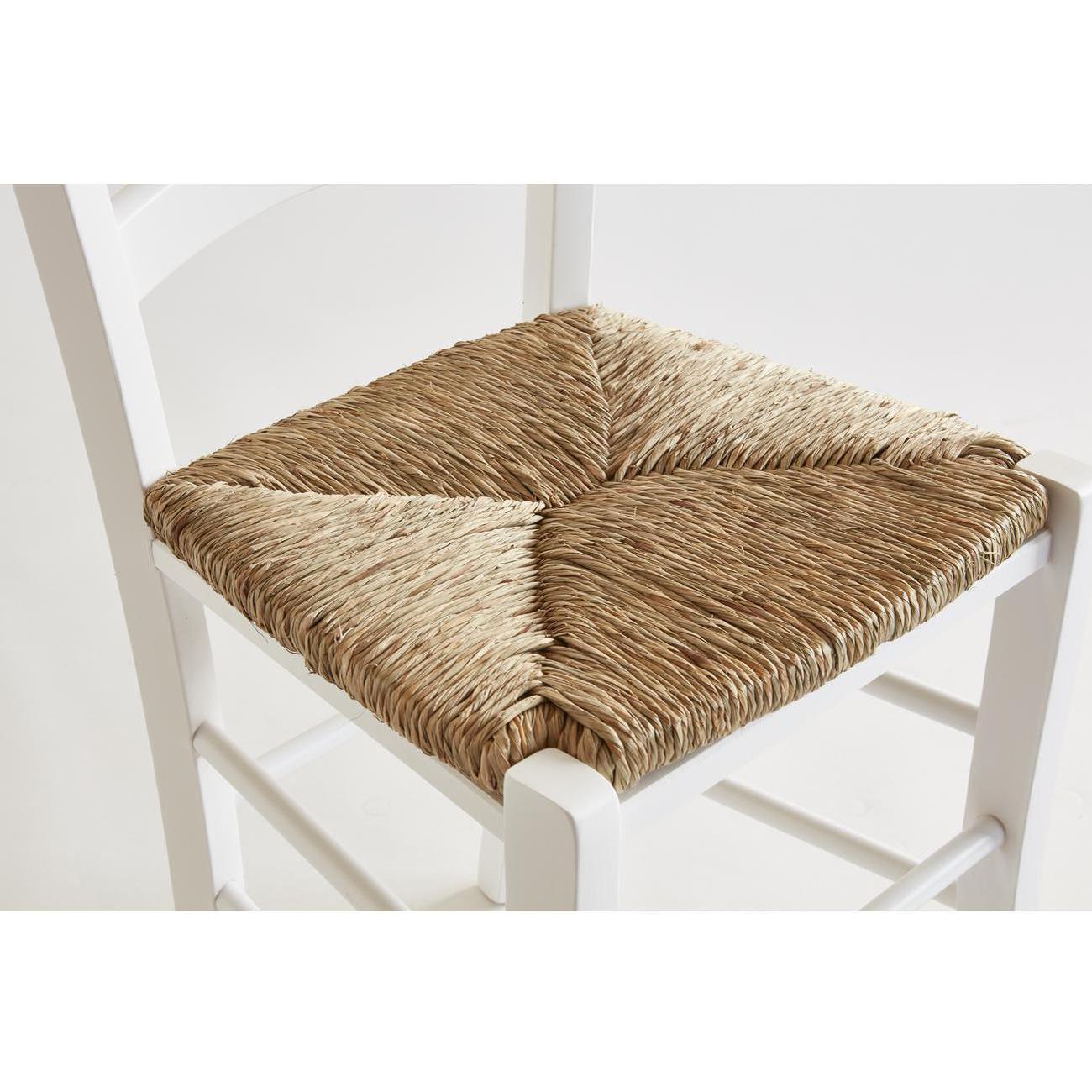 chaises en bois naturel paysanne blanc