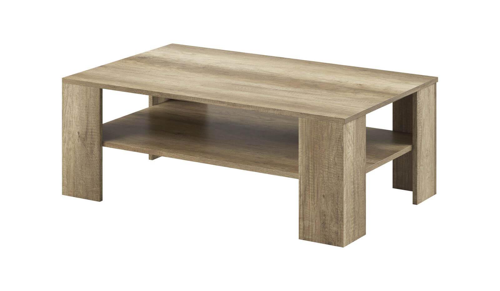 table basse skyline chene blanchi