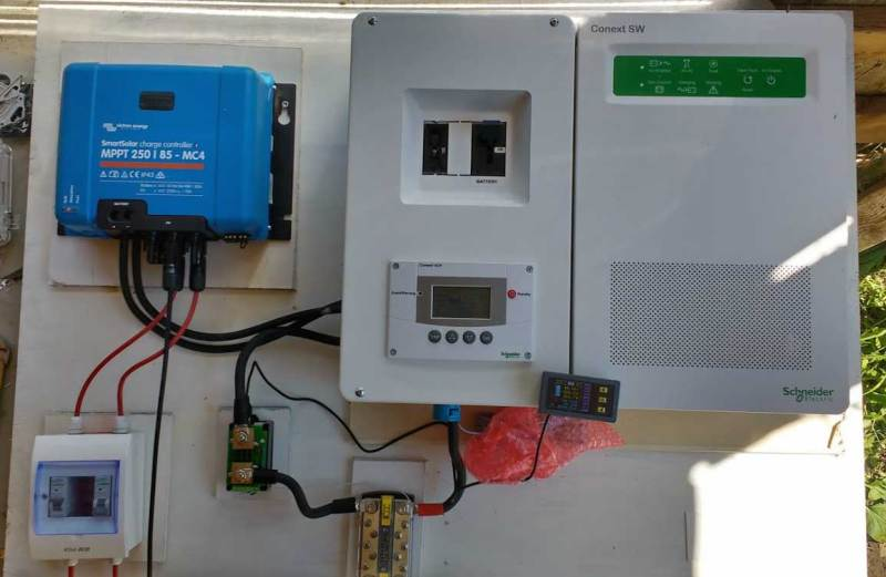 Off grid solar and Schneider SW