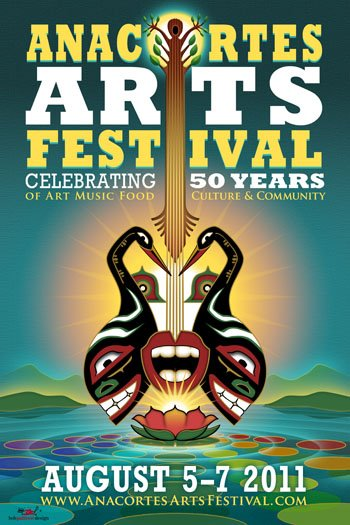 Anacortes Arts Festival Poster - Poster Design by Bob Paltrow