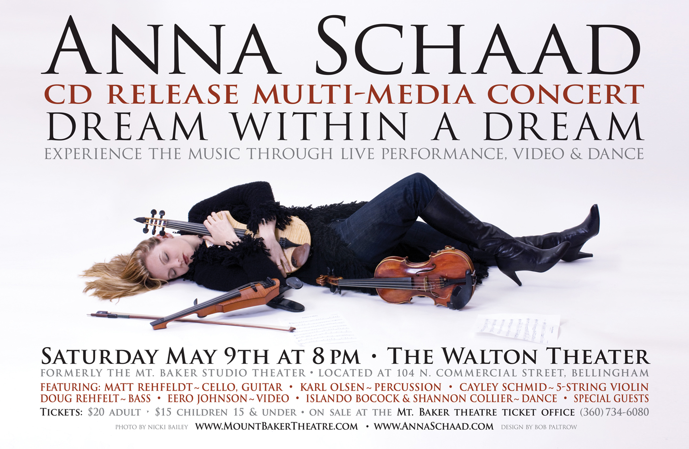 Anna Schaad - Dream Within A Dream - Poster Design by Bob Paltrow