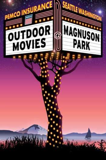 Movies at Magnuson Park Poster - Poster Design by Bob Paltrow