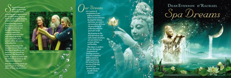 Spa Dreams CD Cover Illustration and Design by Bob Paltrow Design. Client - Soundings of the Planet