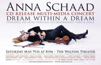 POSTER DESIGN - Anna Schaad CD Release Concert Poster - Illustration & Design by Bob Paltrow