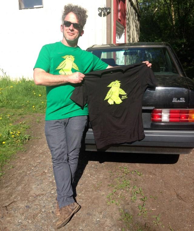 Hempsquatch T-shirts black and green 5-1-2014 IMG_5449