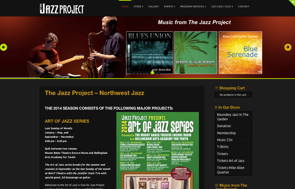 The Jazz Project - Bob Paltrow Web Design Bellingham WA