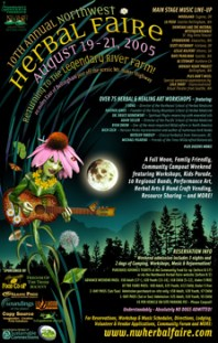 NW Herbal Faire - Illustration & Design by Bob Paltrow