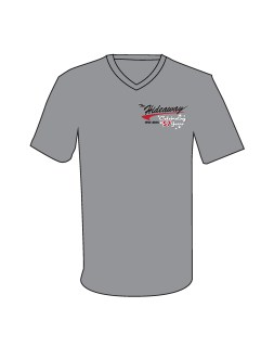 57 Shirt - Retro Swoosh Sparkle 57 on Gray