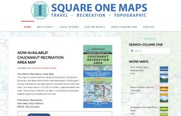 Square One Map Company - Bob Paltrow Web Design Bellingham WA