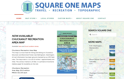 Square One Map Company - Bob Paltrow Web Design Bellingham WA