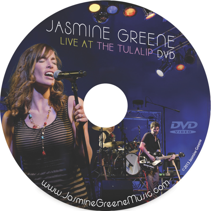 CD Label Art design by Bob Paltrow - Client: Jasmine Greene Band