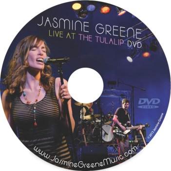 CD Label Art design by Bob Paltrow - Client: Jasmine Greene Band