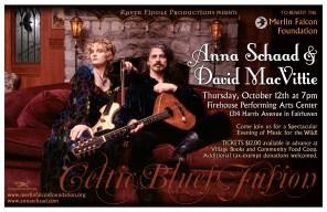 Concert Poster Design by Bob Paltrow Design. Bellingham WA. Client: Anna Schaad/Raven Fiddle Productions
