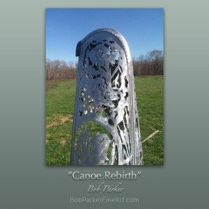 Bob Parker ~ Fine Metal Artist | Custom Canoe Metal Art Available via Commission Work by Bob Parker