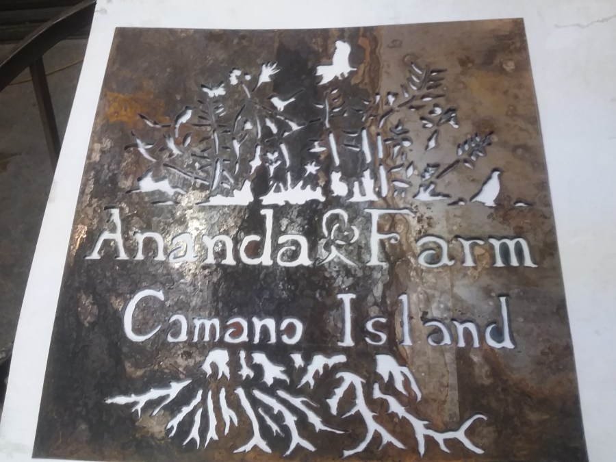 Commissioned Metal Art by Bob Parker | Ananda Farm of Camano Island