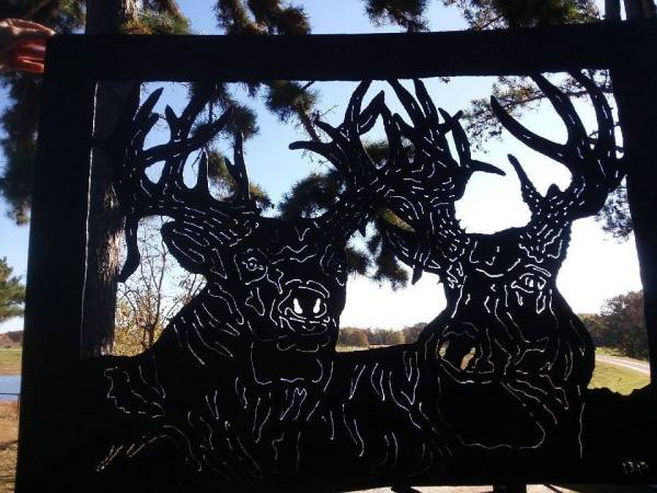 Bob Parker Fine Metal Art | Two Old Bucks