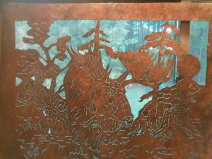 Bob Parker Fine Metal Art | Kin of the Woods - Bull Moose