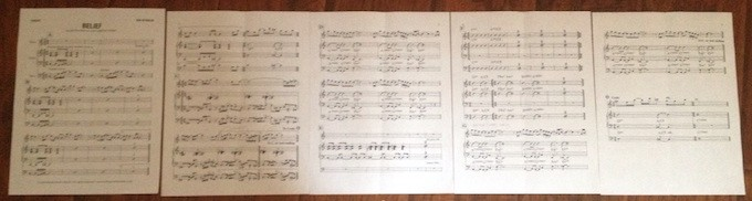 """Original 5 page chart for """"Belief"""""""