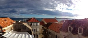 View from our apartment in Kastel Stari from the rooftop terrace