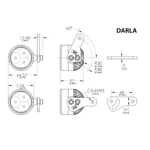 Clearwater Darla LED Light Kit, F650GS Twin Models 2008