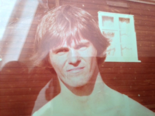 "Outside my basha Bradbury Lines, Hereford, UK, mid 1970s A very happy, very proud graduated ""child soldier"""