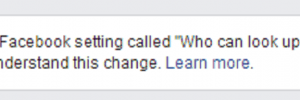 The warning message some Facebook members see