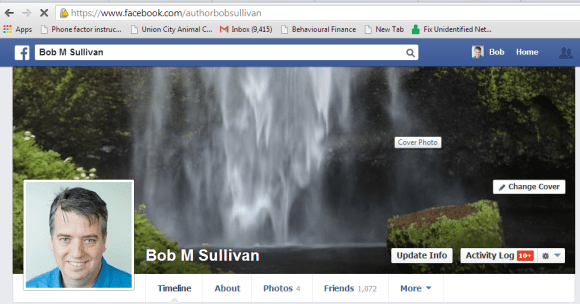 Follow me, or friend me, at https://facebook.com/AuthorBobSullivan